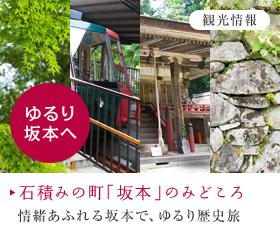 観光情報 石積みの町「坂本」のみどころ